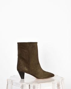 christain louboutin 385 Uk 5 Suede Brown Boots Fab!