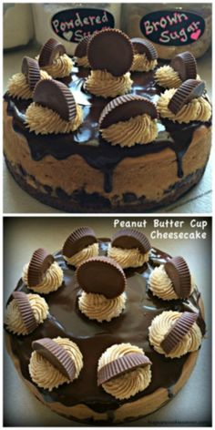"This cheesecake is for serious peanut butter lovers. We are talking about peanut butter cheesecake, peanut butter frosting and REESE""S peanut butter cups. Well, I suppose I should Peanut Butter Cups, Peanut Butter Cup Cheesecake, Cheesecake Brownies, Cheesecake Recipes, Dessert Recipes, Reese Cheesecake, Fudge Brownies, Brownie Recipes, Just Desserts"
