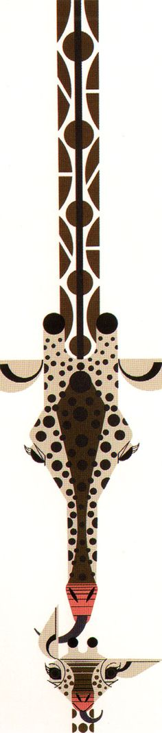 """Love from above"" by Charley Harper, 1976!"