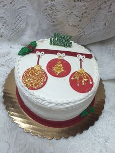 Ornaments Cake - Mueller's Bakery