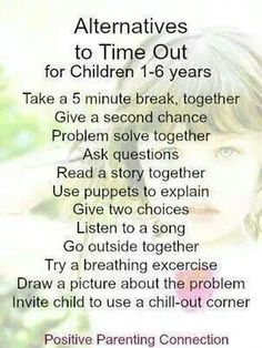 Timeout alternatives for 1-6 year olds