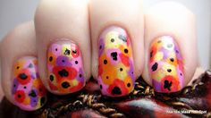 poppies nail art... Need to try this!