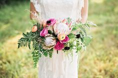 Boho inspired   King Protea bouquet
