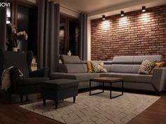 Formal Living Rooms, Living Room Modern, Living Room Decor, One Bedroom Apartment, Apartment Interior, Loft Design, House Design, Brick Wallpaper Living Room, Small Loft Apartments