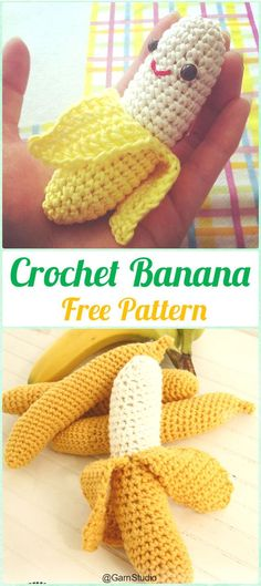 Crochet Amigurumi Banana Free Pattern- Crochet Amigurumi Fruits Free Patterns