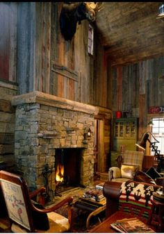 Pin By Karolina Strandberg On Mountain Cabin Pinterest Fireplaces Cabin And Living Rooms