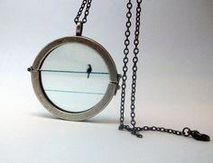 Waiting for You Bird Necklace by GardenOfSypria on Etsy, $24.00