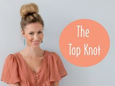 The top knot, or messy bun, is a great hair style when you don't have a lot of time, but want some style, and it always looks classic.  It works best for the gals with longer hair, but shorter haired gals, need not to worry.  Here's how to achieve the look:     1.  Start with a smooth pony tail, high on the top of your head.  Secure with an elastic hair band.  2.  Take a small comb and tease or back comb small sections of your hair, working from the roots to the ends, to create fullness. …