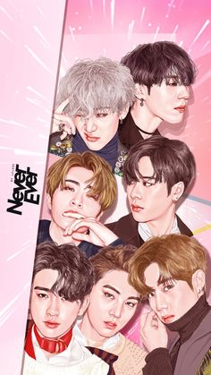 Never Ever Fanart Mark Jackson, Got7 Jackson, Jackson Wang, Youngjae, Bambam, Kim Yugyeom, Got7 Fanart, Kpop Fanart, Got7 Never Ever