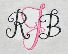 Fonts :: Embroidery Fonts :: Stylish Monoram Font