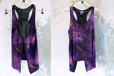 diy galaxy shirt purple