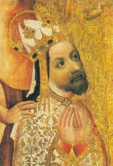 Emperor Charles IV, whose wife's crown was found among the treasures of Sroda, Poland.