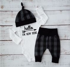 A personal favorite from my Etsy shop https://www.etsy.com/ca/listing/503957015/baby-boy-going-home-outfit-baby-girl