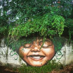 Street Art by Xanoy – Green Smile 3d Street Art, Murals Street Art, Amazing Street Art, Mural Art, Graffiti Art, Flower Power, Grafiti, Art Graphique, Chalk Art