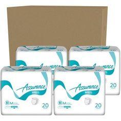 Assurance Maximum Absorbency Briefs, Medium, 20 count, (Pack of 4)