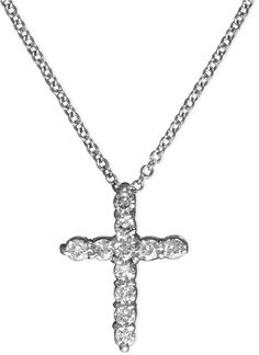 EFFY Diamond Cross Pendant (1/5 ct. t.w.) in 14k White Gold on shopstyle.com