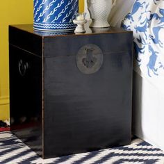 Chinese Wooden Bedside Trunk/Table Was £325 now £225 #sale #oka #trunk #chinese