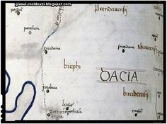 Sarmizegetusa Regia Central section of Dacia's map from a medieval book made after Ptolemy's Geographia (ca. Medieval Books, Writing Tips, Math, Culture, History, Math Resources, Early Math, Mathematics