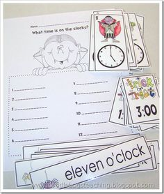Tell time three ways- add one hour before/after Math Work, Fun Math, Math Activities, Maths, Word Work, Teaching First Grade, 1st Grade Math, Teaching Math, Second Grade