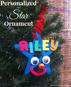 Christmas Crafts: Personalized Star Ornament for Kids - Be sure to check the list of uses for this!! So many ;) http://www.powerfulmothering.com/christmas-crafts-personalized-star-ornament-for-kids/