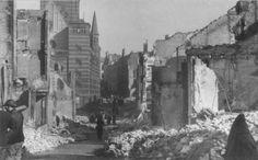 Bloemerstraat Augustijnenstraat na het bombardement van 22 Februari 1944.