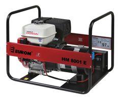 EUROM Benzine aggregaat HM8001E met Honda motor (230V) Eletrische start