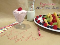 Eggo-licious After School Snack {recipe} ~ Mini Waffle Fruit Kebobs w/dip