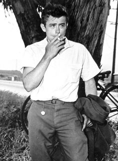 Rebel Without a Cause. // James Dean in a wardrobe test for East of Eden,...