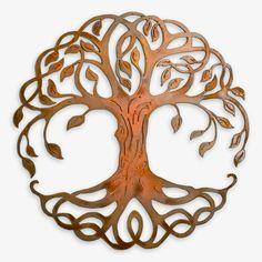 Rusty Celtic Tree of Life Outdoor Wall Art. A contemporary interpretation that l. Tree Of Life Artwork, Tree Of Life Painting, Metal Tree Wall Art, Metal Art, Frida Art, Tree Wall Decor, Art Decor, Tree On Wall, Outdoor Wall Art