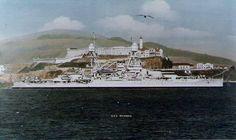 Battleship USS Oklahoma passing Alcatraz Island, San Francisco Bay, Calif, US in the Uss Oklahoma, Us Battleships, Capital Ship, History Online, Naval History, United States Navy, Navy Ships, Pearl Harbor, Aircraft Carrier