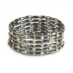TATUM BRACELET  Rows of hematite and sparkle will adorn your wrist when you pop on the fashion forward Tatum stretch bracelet. You'll love it as much with jeans as you will with a skirt and blazer.  #bluemoonularte #onceinabluemoon #bluemoon #kitsylane #bracelet #fashion #sparkle #shopping #boutique