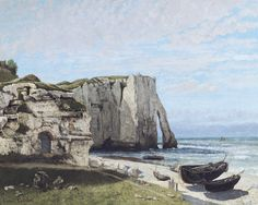The Cliff at Etretat after the Storm - Courbet, Gustave (French, 1819 - Fine Art Reproductions, Oil Painting Reproductions - Art for Sale at Bohemain Fine Art Falaise Etretat, Gustave Courbet, French Paintings, Monet Paintings, Museum, Oil Painting Reproductions, Art Moderne, Realism Art, Claude Monet