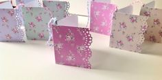 Gift Tags Set of Eight,Shabby Chic Style, Mini Folded Gift Tags  Pastel Twine. £2.50