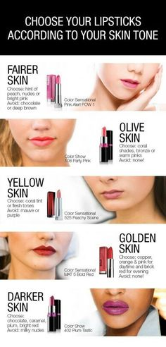 Always wondered how to choose the right lipstick color for your skin tone?? Check this ultimate guidance #beautiful #lips #lipcolors