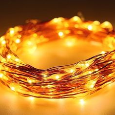FOXNOV LED String Lights Christmas Lights 12 M40 Ft 120 Leds Warm White Dcor Rope Lights for Christmas Holiday Decoration Indoor Outdoor Wedding Party *** You can get more details by clicking on the image.