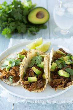 Pork Carnitas - these are amazing!! I've made them twice this week already. These can be made in the oven or in the slow cooker. My entire family loved them. The flavor of the pork is incredible!
