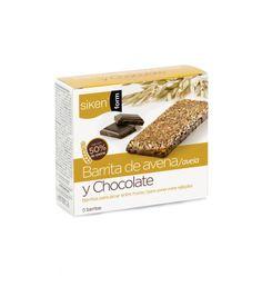 """Los encontrará en Farmacia #DiSalud: Productos Dietéticos #Siken: Desayuna, pica entre horas o sustituye para mantener la línea. Con los productos """"Quiero mantener"""" de Siken te cuidarás y te sentirás bien contigo misma. Barrita de avena y chocolate."""