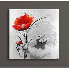 Tableau Peinture Rose rouge chez Deco Soon, spécialiste de votre décoration d'intérieur. Satisfait ou remboursé, livraison et retour gratuits.