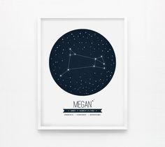Personalized Custom Aries Constellation: Zodiac 8x10 print from loopzart