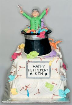 Dry Cleaning Retirement Cake