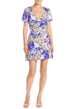 Charles Henry Floral Crepe Fit & Flare Dress - I love the fit on this dress with a more defined waist and flowier around the hips. Purple isn't my favorite color, but I'm willing to try it if it's mixed in with other colors like it is on this dress :)