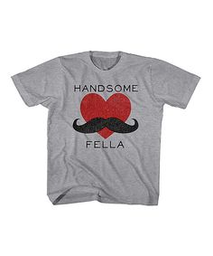 Look at this Heather Gray 'Handsome Fella' Tee - Toddler & Boys on #zulily today!
