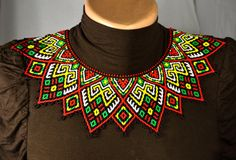 Beaded Necklace Seed beads collar Necklace by NakaHandMadeShop Beaded Collar, Collar Necklace, Seed Bead Necklace, Beaded Necklace, Seed Beads, Bead Store, Native American Beading, Bead Art, Bead Weaving