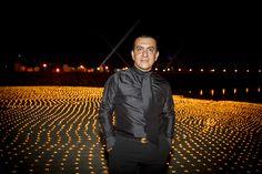 Ali Behnam Bakhtiar at night with black shirt