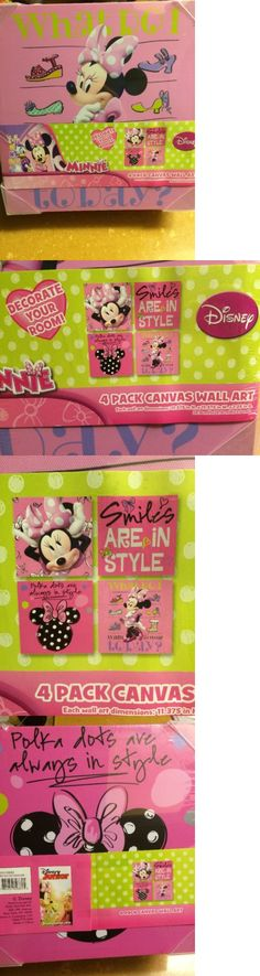 Bedroom Playroom and Dorm D cor 115970: 4 Piece Kids Room Decor Minnie Mouse Canvas Standalone Set Wall Art New -> BUY IT NOW ONLY: $32.95 on eBay!