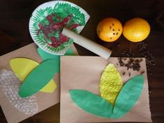 Fall harvest Crafts Preshcool lesson -- alternative, use the bubble wrap as a stamp