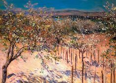 Orchard with Flowering Apple Trees, Colombes - Gustave Caillebotte