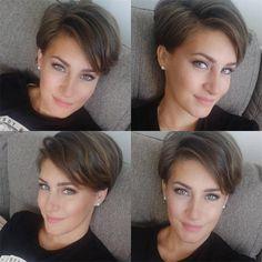 Short Pixie Haircuts, Haircuts For Fine Hair, Haircut For Thick Hair, Pixie Bob, Medium Hair Styles, Curly Hair Styles, Grey Hair Inspiration, Blonde Pixie Cuts, Hair Addiction