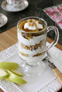 Caramelized Apple, Yogurt & Granola Parfaits