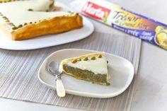 Tarte à la pistache et au chocolat blanc - La recette : https://www.facebook.com/herta.fr/photos/pb.250368165080987.-2207520000.1398172001./518714918246309/?type=3&theater
